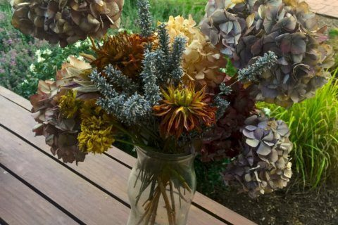To keep enjoying your garden's flowers, consider drying them
