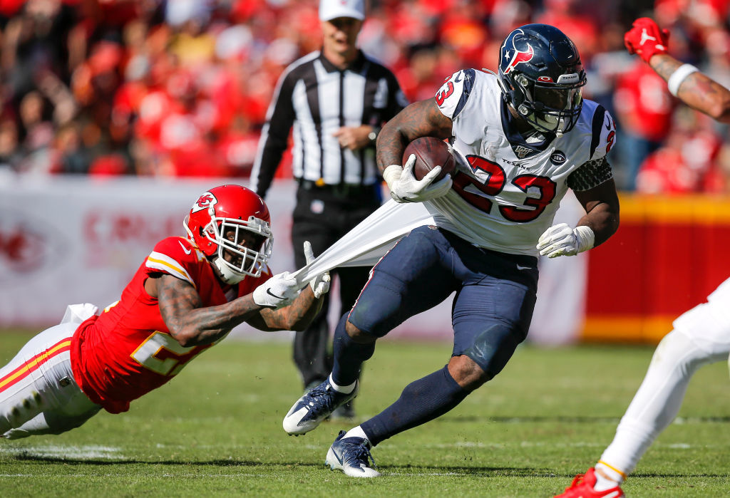 "<p><b><i>Texans 31</i></b><br /> <b><i>Chiefs 24</i></b></p> <p>I see you, Carlos Hyde. The former Chief helped Houston pull off a big road win to spoil Tyreek Hill&#8217;s return and <a href=""https://profootballtalk.nbcsports.com/2019/10/13/carlos-hyde-league-should-be-on-notice-after-this-win/"" target=""_blank"" rel=""noopener"" data-saferedirecturl=""https://www.google.com/url?q=https://profootballtalk.nbcsports.com/2019/10/13/carlos-hyde-league-should-be-on-notice-after-this-win/&amp;source=gmail&amp;ust=1571101182804000&amp;usg=AFQjCNH8e1zlF7OTdZCaxjclQHyuR25vPg"">put us on notice</a> that the Texans are for real. A win in Indy next week will hammer home that point.</p>"