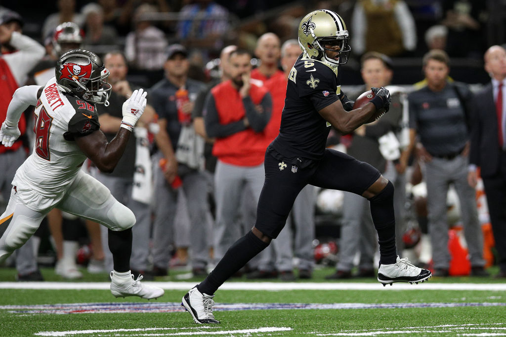 <p><b><i>Bucs 24</i></b><br /> <b><i>Saints 31</i></b></p> <p>Teddy Bridgewater matched a career-high with 4 TDs and the New Orleans defense continued to do enough to make him a winner since taking over as the starting QB for the injured Drew Brees. If they can stay on a roll without their future Hall of Fame field general, the Saints could go marching into the Super Bowl after all.</p>