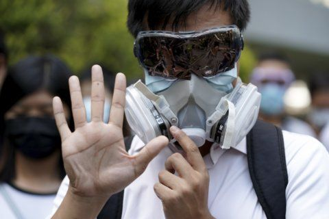 Hong Kong's leader says mask ban necessary to quell violence