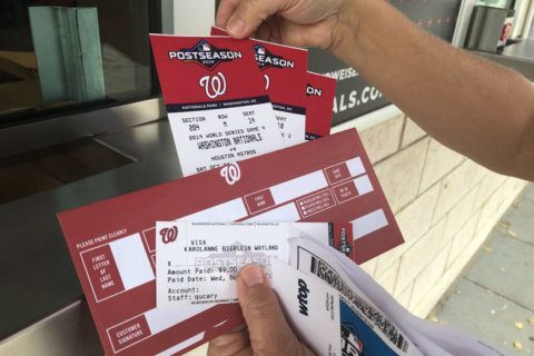 Nationals will print commemorative tickets to World Series games at Nats Park