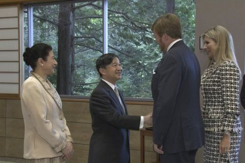 Japan's Emperor Naruhito hosts tea party for foreign royals