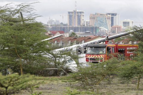 Commercial plane crashes in Kenyan capital but all said safe