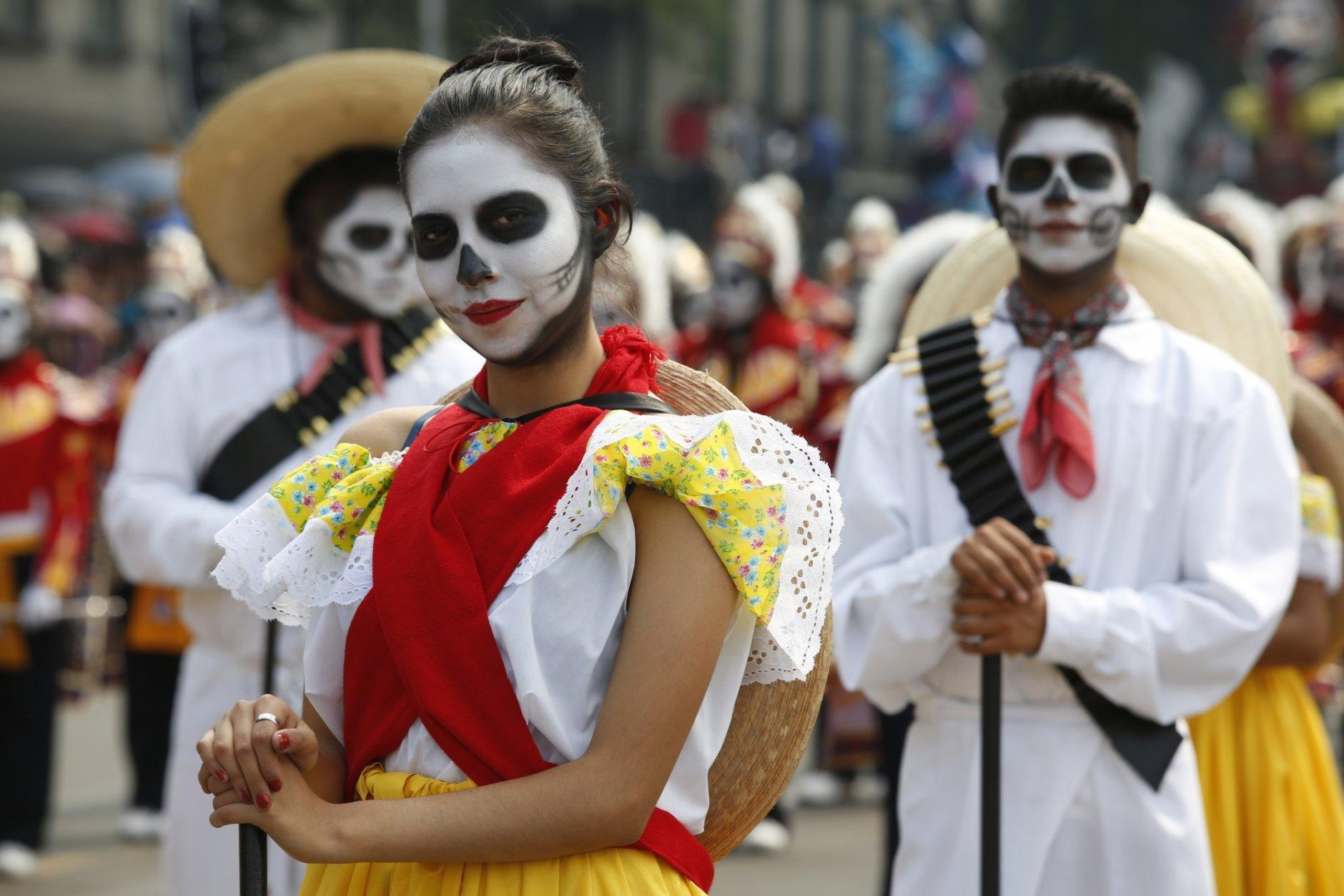 Halloween Costume Bike Race October 27 2020 Day of the Dead parade hits Mexico City as holiday expands | WTOP