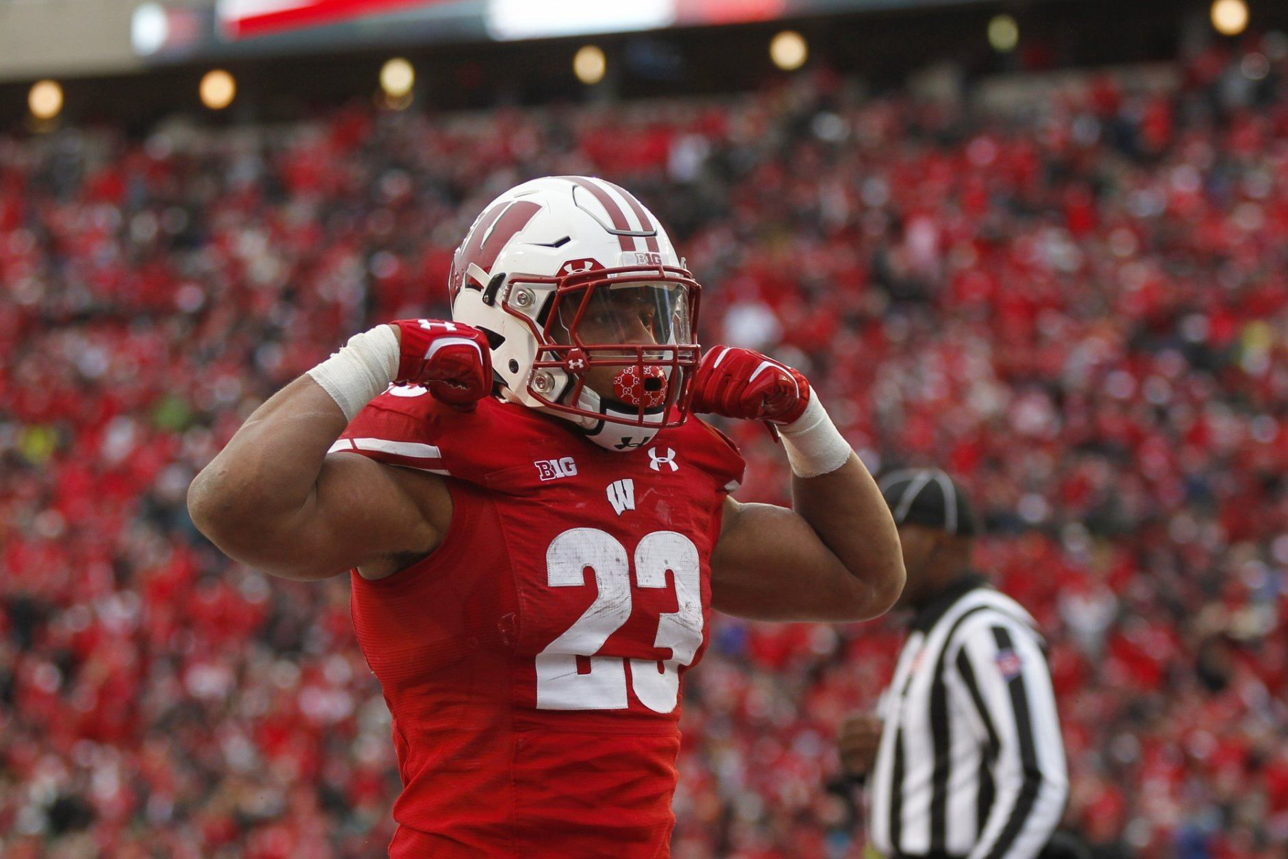 <p><strong>No. 13 Wisconsin (6-2):</strong> Win out, including vs. Iowa and at Minnesota, have Minnesota lose an additional game, win Big 10 title</p> <p>Even if everything goes right for Wisconsin, coming off consecutive losses, there's no guarantee this gets them in. But it's at least possible. A rematch win over an undefeated Ohio State in the B1G title game would go a long way toward making voters forget about their 38-7 loss (not to mention the 24-23 face plant at Illinois).</p>