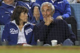 Former Los Angeles Dodgers pitcher Sandy Koufax watches during the eighth inning in Game 2 of a baseball National League Divisional Series between the Dodgers and the Washington Nationals on Friday, Oct. 4, 2019, in Los Angeles. (AP Photo/Mark J. Terrill)