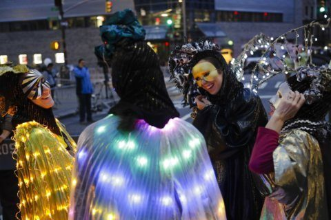 Costumed revelers march in 46th NYC Halloween parade