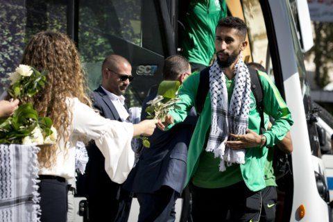 Saudi soccer team visits West Bank for 1st time