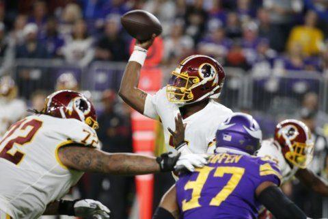 Redskins' rookie Haskins starting QB for Bills game