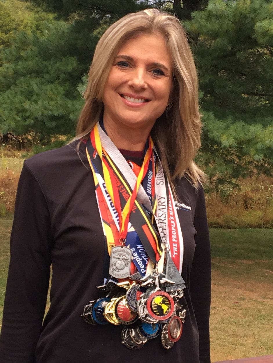 "<p><em>Runner: Renee Brooks<br /> Time: 5:32:47</em></p> <p>This year&#8217;s Marine Corps Marathon was Brooks&#8217; 23rd in a row. ""It's my destiny,"" Brooks <a href=""https://wtop.com/marine-corps-marathon/2019/10/silver-spring-woman-runs-mcm-because-its-her-destiny-mon-10-14/"" target=""_blank"" rel=""noopener"">told WTOP in her profile</a>.</p>"