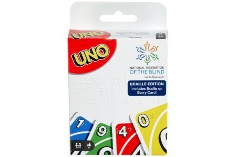 Mattel releases a Braille version of UNO