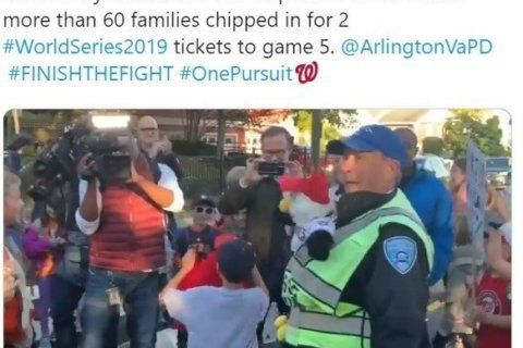 WATCH: Kids at Arlington school surprise crossing guard with World Series tickets