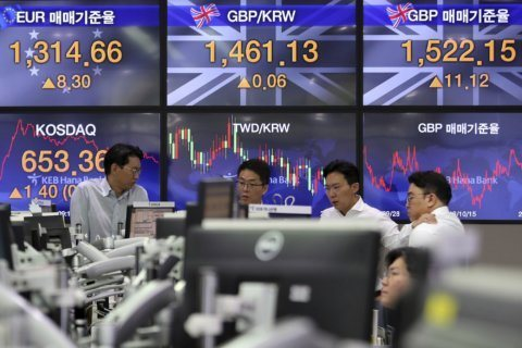 Global shares mixed on caution over Brexit, China-US trade