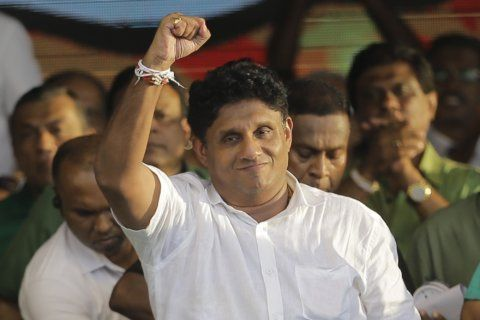 Sri Lanka governing party candidate stresses security