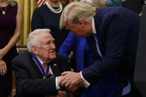 Trump honors longtime Reagan associate Edwin Meese