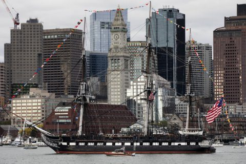 USS Constitution celebrates birthday with Boston Harbor tour