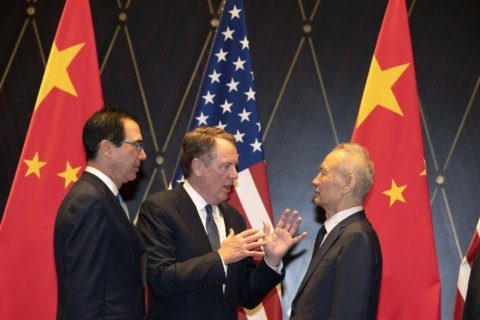 Trump says US-China trade talks are 'going very well'