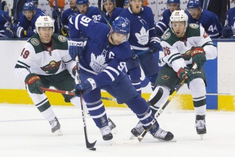 Maple Leafs overcome slow start, beat Wild 4-2
