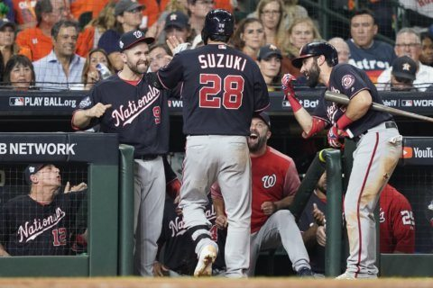 Ailing Suzuki delivers big swing as Nats near title