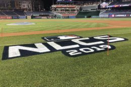 field at nationals park ahead of game 3 of the nlcs
