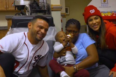 Nationals' Gerardo Parra brings 'Baby Shark' energy to pediatric cancer patients