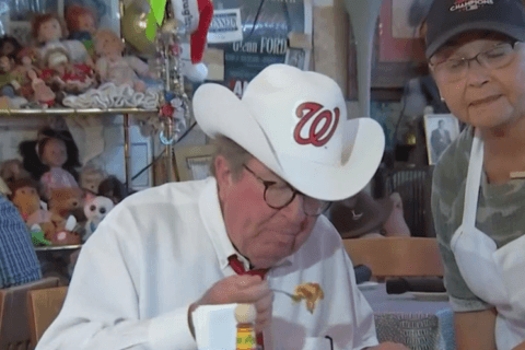 Ridin' high: NBC4's Pat Collins chows down, meets Nationals' Ryan Zimmerman