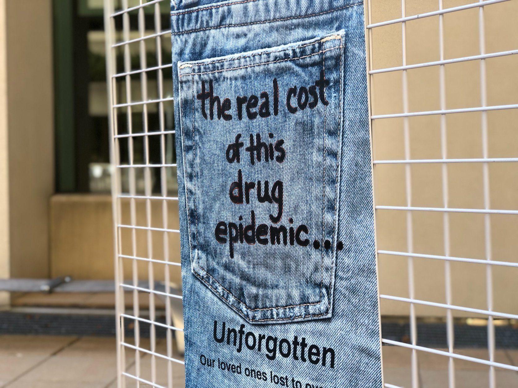 jeans, exhibit, opioid crisis