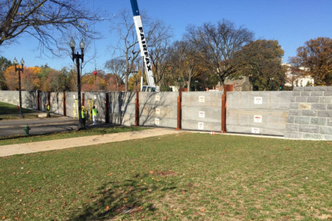 17th Street near the National Mall closed Friday for levee testing