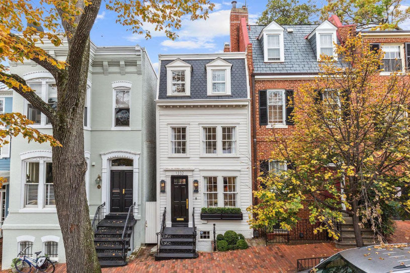 One of the few remaining pre-1800 row houses in Georgetown has been listed for sale for $2.395 million. (Courtesy HRL Partners at Washington Fine Properties)