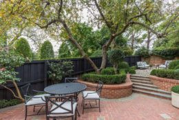 The three-level home has three bedrooms and two and a half baths, and a deep, private rear garden, on a lot that is 120 feet in length -- unusual for Georgetown.