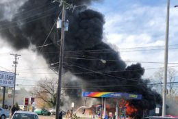 <p>Part of Rockville Pike in Rockville, Maryland, were closed for nearly three hours after a two-alarm fire at a gas station sent smoke into the air that was visible for miles.</p>
