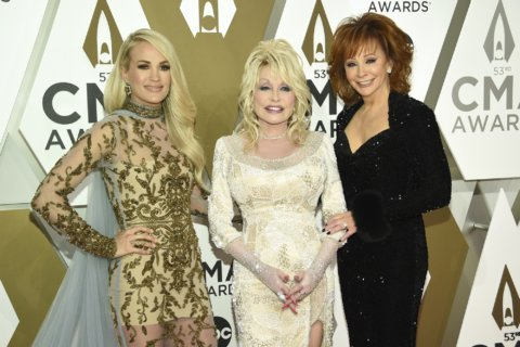 The Latest: Country's female stars kick off CMA Awards