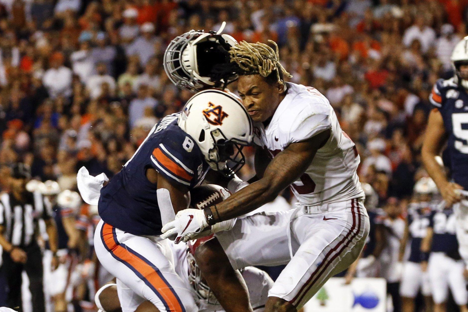 No. 16 Auburn upends No. 5 Alabama's playoff hopes, 48-45 ...