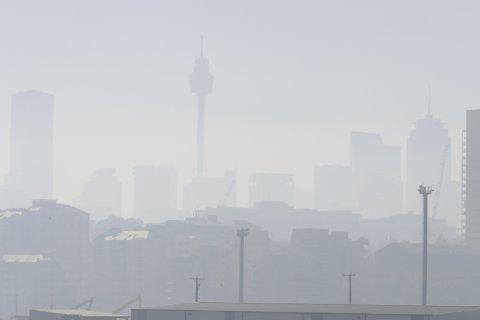 Smoke shrouds Sydney's skyline as wildfires burn nearby