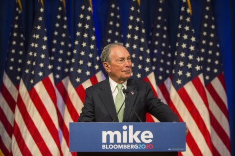 Bloomberg, in campaign event, calls Trump an 'existential threat'