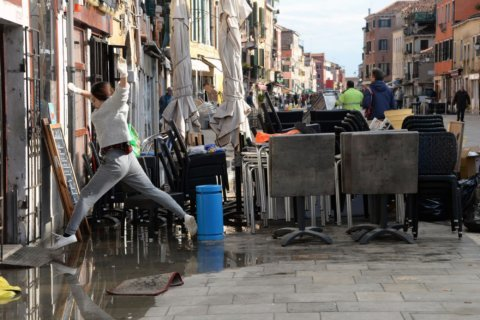 The Latest: State of emergency declared in flood-hit Venice