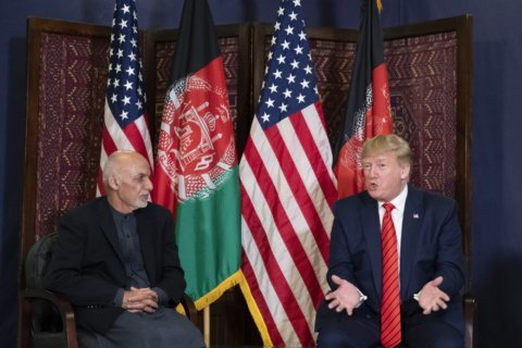 The Latest: Trump back in US after his visit to Afghanistan
