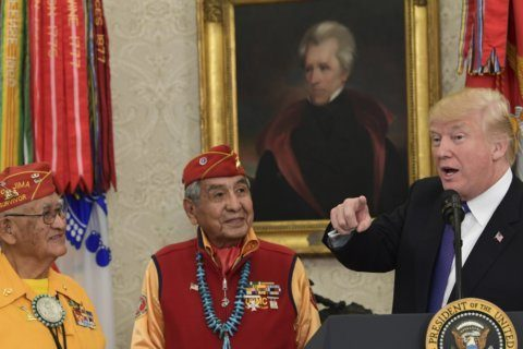 Trump honors Native Americans, US founders in same month