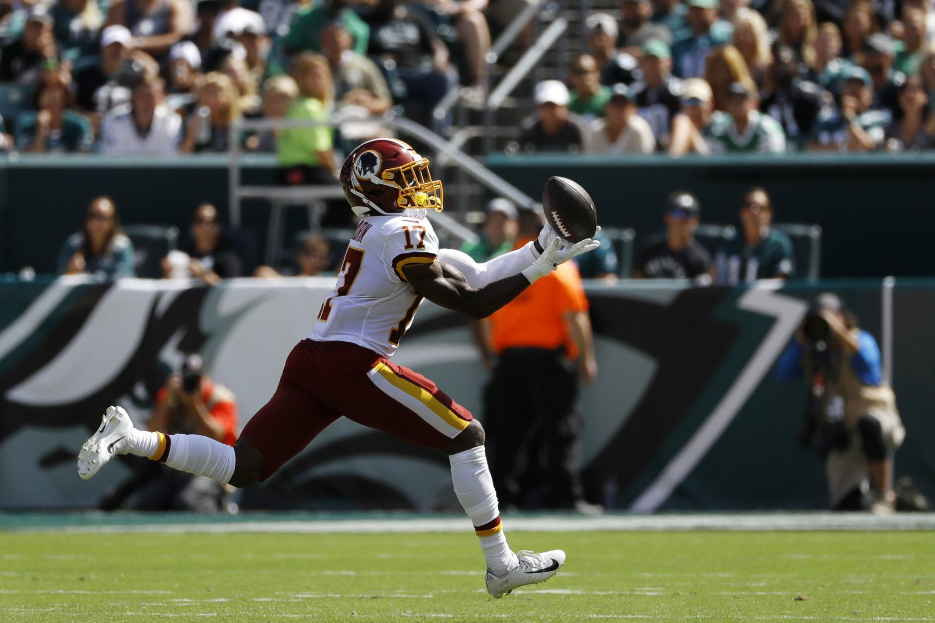 """<p><b>Offensive Rookie of the Year: Terry McLaurin</b></p> <p>I know Gardner Minshew is everyone&#8217;s pick, but hear me out. McLaurin is catching passes from a cavalcade of mediocre QBs, and became the first player in NFL history to have five catches and a touchdown in each of his first three games, leads all rookies in catches (32) and receiving touchdowns (5), and <a href=""""https://twitter.com/PFF/status/1190641467494150147?s=20"""" target=""""_blank"""" rel=""""noopener"""" data-saferedirecturl=""""https://www.google.com/url?q=https://twitter.com/PFF/status/1190641467494150147?s%3D20&amp;source=gmail&amp;ust=1572975299525000&amp;usg=AFQjCNFearDT-2UWvQYqJB1d0_w108FWOA"""">grades out as the second-best offensive rookie</a> in the league. Josh Jacobs will probably win the award in real life but McLaurin gets my much more prestigious cyber trophy.</p> <p><i>Honorable mention: Jacobs, Minshew</i></p>"""