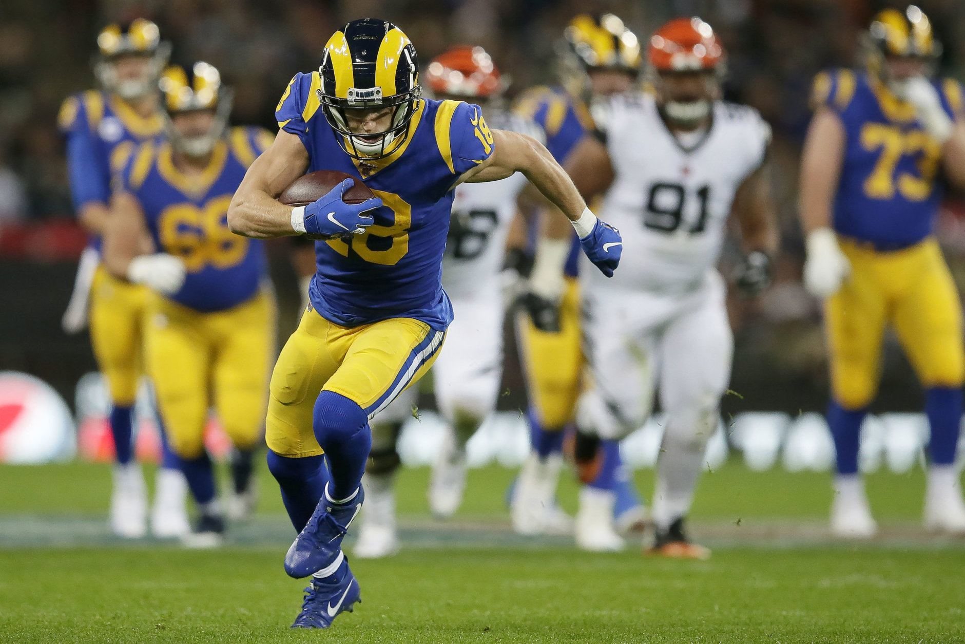 <p><b>Comeback Player of the Year: Cooper Kupp</b></p> <p>This dude tore his ACL in Week 10 and was right back in the lineup for the Rams&#8217; season opener, catching seven passes and looking like the reliable target he&#8217;d always been for L.A. Kupp has already played as many games as he did in 2018, and has 18 more catches and 226 more yards than he did a year ago. We haven&#8217;t seen a comeback from a late-season ACL tear quite like this since Adrian Peterson came nine yards shy of the single-season rushing record in his 2012 MVP season.</p> <p><i>Honorable mention: Dalvin Cook, Jimmy Garoppolo, Travis Frederick</i></p>
