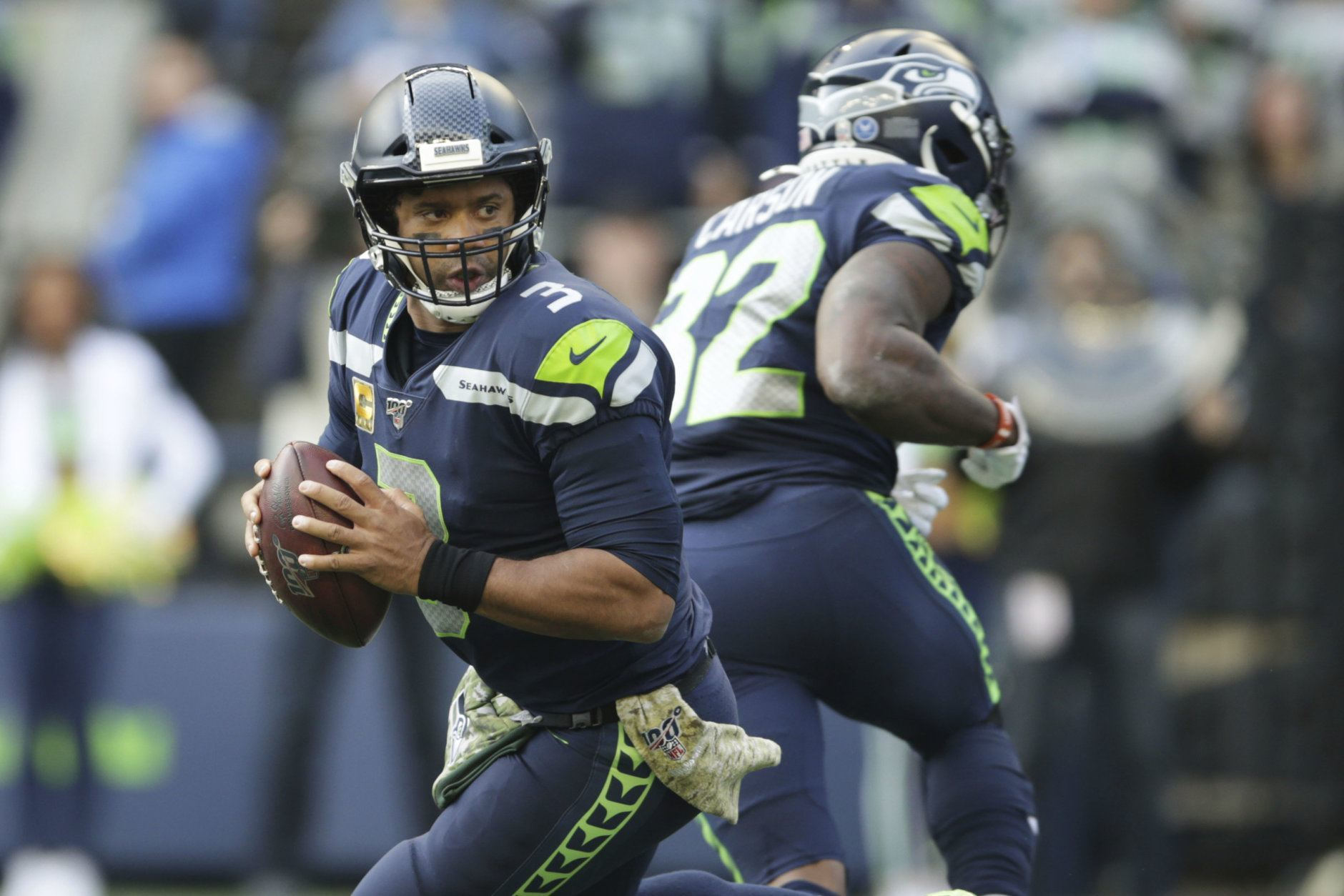 <div><b>MVP: Russell Wilson</b></div> <div></div> <div>In one of the most tightly contested MVP races in recent memory, Wilson edges out Lamar Jackson and finally gets his due for carrying Seattle to the playoffs without top-tier passing targets and a Seahawks defense currently ranked in the bottom third of the league in yardage and points allowed. Still, Wilson leads the NFL in passer rating (118.2) and passing touchdowns (22), while completing a career-high 68.3% of his passes for 2.505 passing yards (third-best in the league). Oh, did I mention he&#8217;s only been intercepted once? If he&#8217;s not the MVP, there&#8217;s no such thing as an MVP.</div> <div></div> <div><em>Honorable mention: Jackson, Christian McCaffrey, Deshaun Watson</em></div>