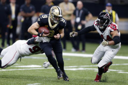 """<p><b><i>Falcons 26</i></b><br /> <b><i>Saints 9</i></b></p> <p>In the upset of the year (and <a href=""""https://twitter.com/BFawkesESPN/status/1193685016607260672?s=20"""" target=""""_blank"""" rel=""""noopener"""">maybe the decade</a>), Atlanta played like a team, <a href=""""https://www.ajc.com/sports/football/quinn-looking-last-eight-games-new-season/8vHxITMiCCz0o5XqfDLlaJ/#"""" target=""""_blank"""" rel=""""noopener"""">treating its second-half slate like a new season</a>. Unfortunately, it&#8217;s too late to save it.</p>"""