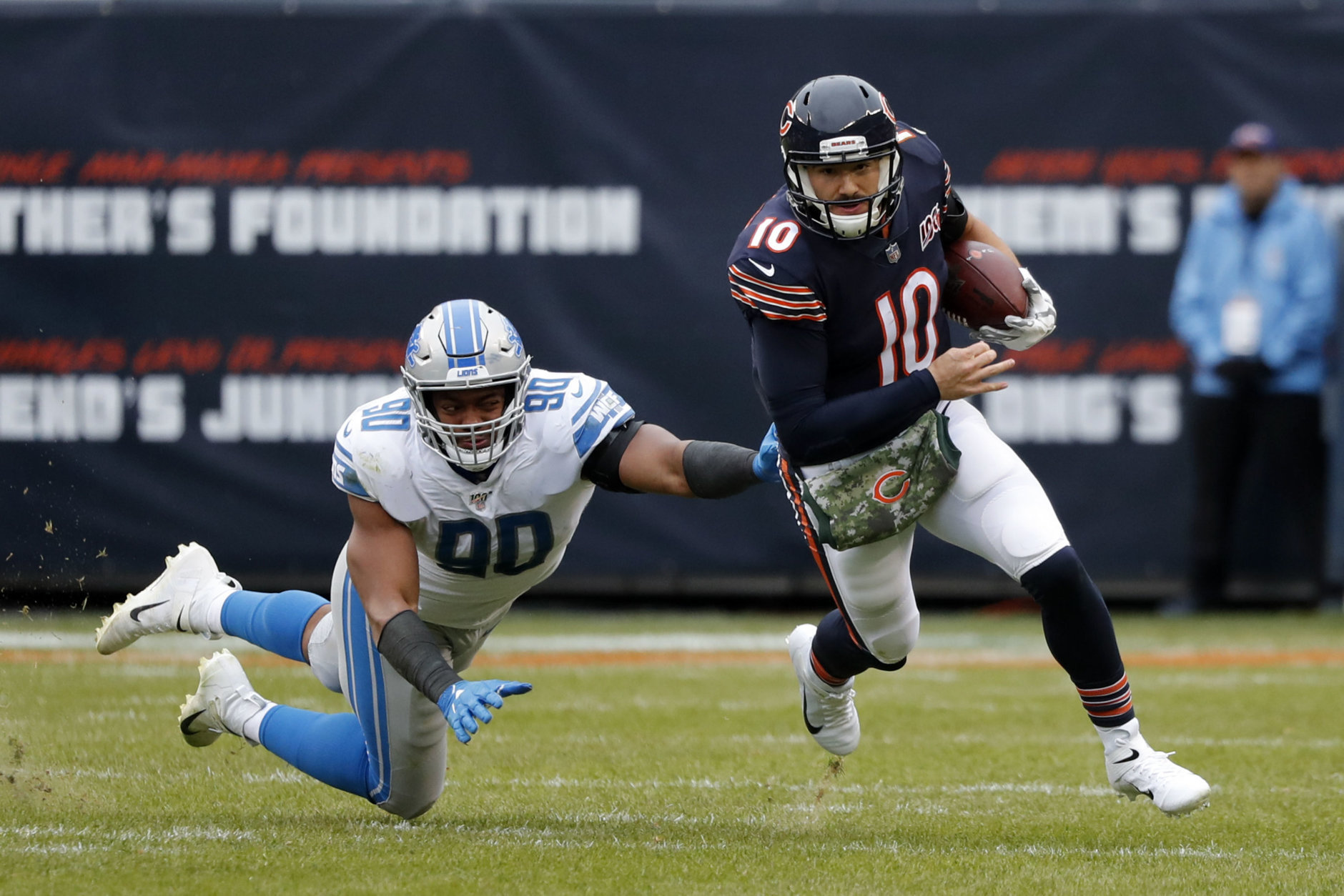 """<p><b><i>Lions 13</i></b><br /> <b><i>Bears 20</i></b></p> <p>Maybe it was <a href=""""https://www.chicagotribune.com/sports/bears/ct-cb-chicago-bears-matt-nagy-defense-zach-ertz-20191104-2axoxwq7znci3lmysuaqm4zoe4-story.html"""" target=""""_blank"""" rel=""""noopener"""">Matt Nagy&#8217;s positivity</a>, maybe it was <a href=""""https://www.si.com/nfl/2019/11/07/mitchell-trubisky-bears-halas-hall-televisions"""" target=""""_blank"""" rel=""""noopener"""">Mitchell Trubisky turning off the TVs, </a>but it was probably more about <a href=""""https://profootballtalk.nbcsports.com/2019/11/05/stafford-on-pace-to-lead-nfl-in-passing-yards-with-help-from-lions-bad-defense/"""" target=""""_blank"""" rel=""""noopener"""">the red hot Matthew Stafford</a> being sidelined for the first time since 2010 and Detroit&#8217;s defense continuing to disappoint.</p>"""