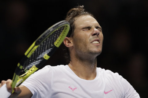 ATP Finals: Rafa Nadal saves match point to beat Daniil Medvedev in US Open rematch