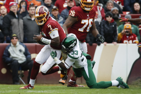 Redskins snap TD drought but grounded by Jets, 34-17