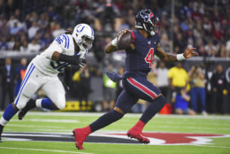 "<p><b><i>Colts 17</i></b><br /> <b><i>Texans 20</i></b></p> <p>In a game that gives Houston the inside track to the AFC South title, the Texans <a href=""https://twitter.com/NFL_Memes/status/1197672801731317761?s=20"" target=""_blank"" rel=""noopener"">showed up like Mortal Kombat</a> and got a <a href=""https://profootballtalk.nbcsports.com/2019/11/22/late-fumble-should-have-triggered-a-formal-replay-review/"" target=""_blank"" rel=""noopener"">far-from-flawless victory</a> that had fans in Indianapolis throwing down their proverbial controllers and wishing for a reset button.</p>"