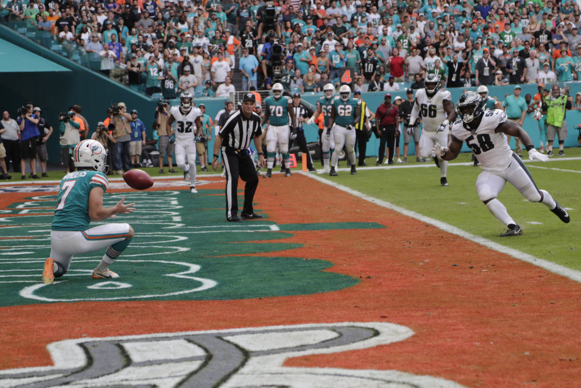"""<p><b><i>Eagles 31</i></b><br /> <b><i>Dolphins 37</i></b></p> <p>Look, Dallas can&#8217;t get out of its own way either but if Philadelphia can&#8217;t beat the hapless Dolphins in December (they gave up <a href=""""https://twitter.com/ESPNStatsInfo/status/1201229068148105216?s=20"""" target=""""_blank"""" rel=""""noopener"""">the first touchdown to a kicker in 42 years</a>!), it&#8217;s hard to see them catching the Cowboys with <a href=""""https://twitter.com/ESPNStatsInfo/status/1201256099443290113?s=20"""" target=""""_blank"""" rel=""""noopener"""" data-saferedirecturl=""""https://www.google.com/url?q=https://twitter.com/ESPNStatsInfo/status/1201256099443290113?s%3D20&amp;source=gmail&amp;ust=1575342523390000&amp;usg=AFQjCNGMZiL2YK-oOvS-mcZuegvCG3LY9g"""">this awful fourth-quarter track record</a>.</p>"""