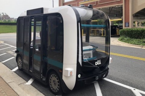 Self-driving shuttle debuts in Montgomery Co.