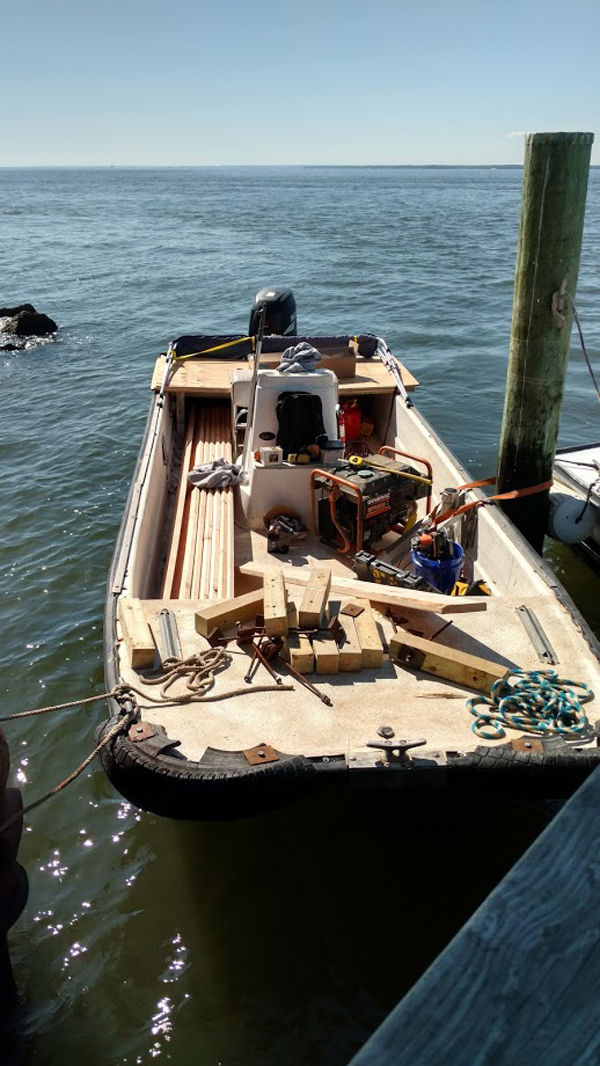 All the supplies needed to repair and restore the lighthouse have to be bought there by boat.