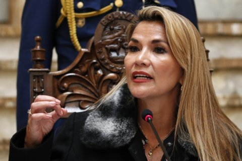 The Latest: Bolivia's new leaders break ties with Venezuela